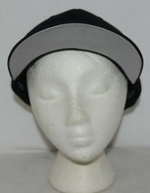 Flexfit Black 6277 Twill Hat L XL Permacurv Visor With Silver Undervisor image 1