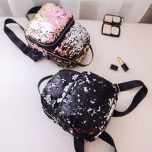 Sequins Mini Backpack Cute Women Girls Shoulder Bag Bling Travel School ... - €20,30 EUR
