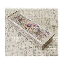 Mutter der Perle Perlmutt Woods butterfly Schmuckstück Schmuck Jewel Box... - $149.29