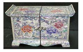 Mutter der Perle Perlmutt Woods butterfly Schmuckstück Schmuck Jewel Box... - $188.92