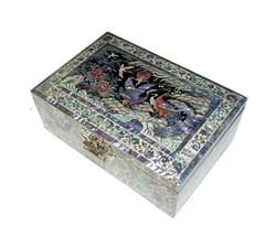 Mutter der Perle zehn Symbole der Langlebigkeit Schmuck Fall jewel Box #... - $337.83