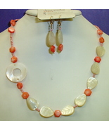 Mother of Pearl shells, Necklace set, Seashore Rapsody #7-10M4848, Free ... - $11.99
