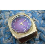 Vintage Soviet Russian Ussr Ladies 10AU Gold Plated Wristwatch ZARIA 1970 - $49.47