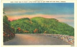 Stony Man to Right, from Skyline Drive, Virginia, unused linen Postcard  - $4.99