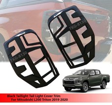 Black Taillight Tail Light Cover Trim For Mitsubishi L200 Triton 2019 2020 - $56.57