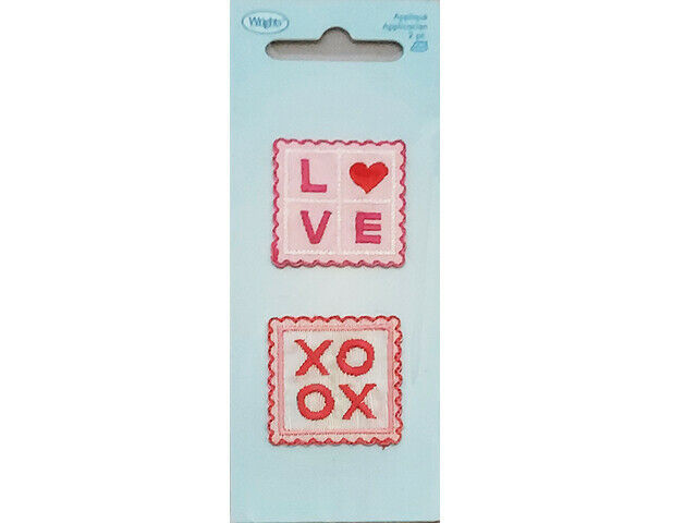 Wrights Iron-On Applique, Love Squares, Set of 2 #1968952001