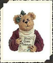 "Boyds Bearwear ""miss wise..first class teacher"" Resin Pin #26059 -New- Retired - $8.99"
