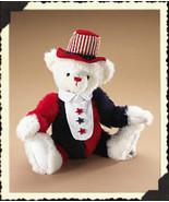 """Boyds Bear """"Benjamin Shutterbear""""  #92005-08 - 12"""" Patriotic Bear -2007 - NWT - $29.99"""