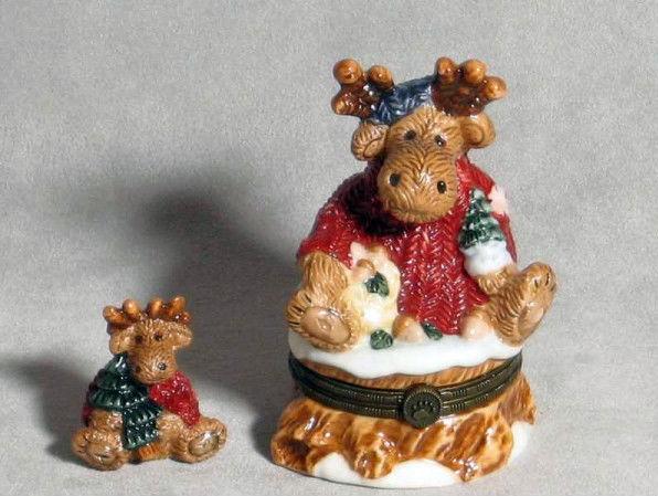 "Boyds Bears- Le Bearmoge Porcelain Box ""Manheim..The Moose"" #39213- 1E- NIB-1999"