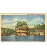 Sugar Bowl, Dells of the Wisconsin River, unused linen Postcard  - $4.99