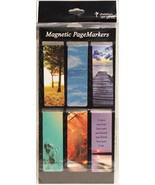 Beautiful Classic Magnetic Page Bookmarks Set of 6 Bible Verses Be Still... - $8.34