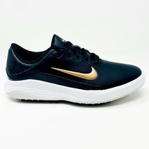Nike Vapor Black Metallic Bronze White Womens Spikeless Golf Shoes AQ2324 001 - $44.95