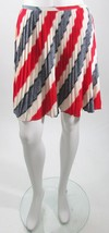 Jack Red Blue Pleated Above the Knee Skirt Sz 8 NWT - $20.78