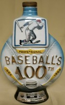 "1969 ""Baseball 100th Anniversary"" Jim Beam whiskey alcohol Decanter (empty) - $32.63"