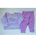 Girl's Size 3M 0-3 Months 2 Piece Pink Absorba Elephant L/S Top, Carter'... - $15.00