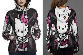 Hello Kitty I love punk Hoodie Fullprint Women Zipper - $46.99+