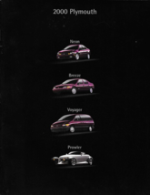 2000 Plymouth FULL LINE brochure catalog PROWLER NEON VOYAGER BREEZE 00 - $8.00
