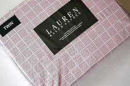 NEW Ralph Lauren TWIN SHEET SET 3pc Red white dots squares - $50.83
