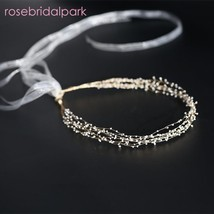 rosebridalpark Handmade Bridal Hair Accessories Headbands Head Piece Wom... - £35.68 GBP