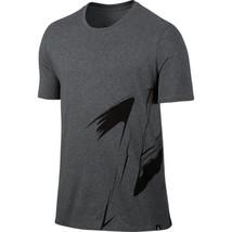 Air Jordan Retro 8 Elevated Men's T-Shirt Charcoal Heather-Black 833965-071 - $26.80