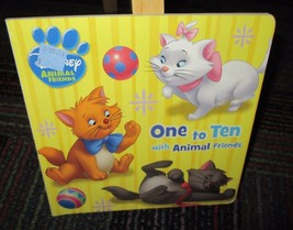 DISNEY ANIMAL FRIENDS: ONE TO TEN WITH ANIMAL FRIENDS BOARD BOOK GREAT R... - $3.99