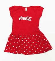 Coca-Cola Infant 24 Month Polka-Dot Skirt Dress Red Cap Sleeves 100% Cotton - $13.86