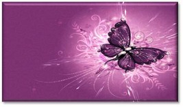 Purple Butterfly Refrigerator Magnet - $2.49