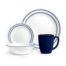 Corelle Livingware 16-Piece Dinnerware Set, Classic Cafe Blue, Service f... - $51.57