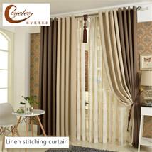 {Byetee} Kitchen Blackout Faux Cotton Linen Curtains Shading Simple Livi... - $180.00