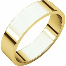 Fine 10k Yellow Gold 5 mm High Polished Flat Wedding Band Ring Size 3-16 - $118.80+