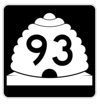 Utah State Highway 93 Sticker Decal R5420 Highway Route Sign - $1.45+