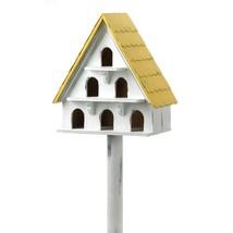 Finch Bird House, Cute Modern Wooden Birdhouse Outdoor Decor - $24.99