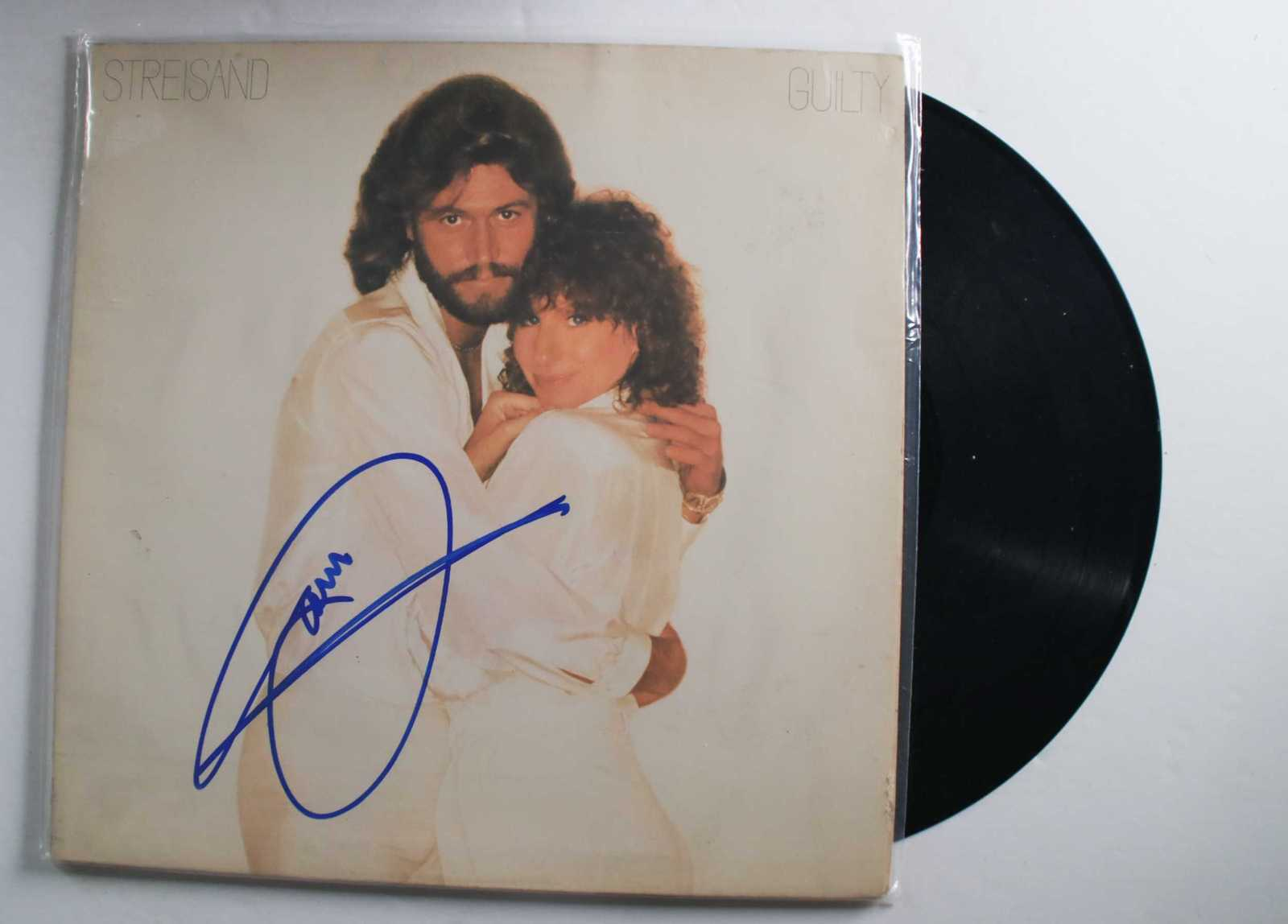 "Primary image for Barry Gibb Signed Autographed ""Guilty"" Record Album"