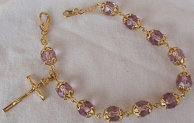 Purple golden Rosray bracelet