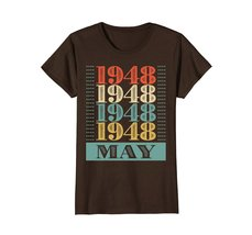 Funny Shirts - Retro Classic Vintage May 1948 70th Birthday Gift 70 yrs old Wowe image 5