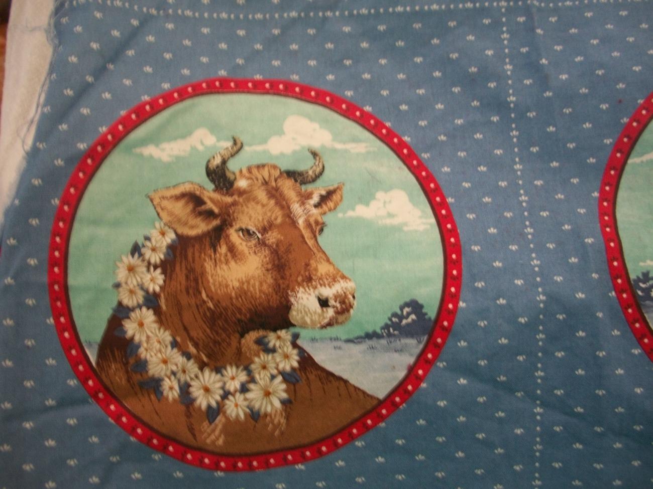 Farm Animal Fabric Panels