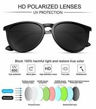 WOWSUN Polarized Sunglasses for Women Vintage Retro Round Mirrored Lens image 2