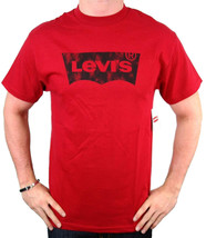 NEW NWT LEVI'S MEN'S PREMIUM CLASSIC  COTTON T-SHIRT SHIRT TEE RED image 2