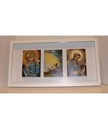 St Francis Note Cards Framed in  White Shadowbox  - $14.99