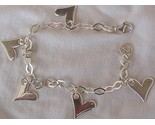 Silver hearts anklet 1 thumb155 crop
