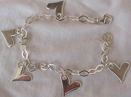 Silver hearts anklet 1 thumb200