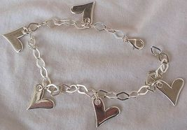 Silver hearts anklet 2 thumb200