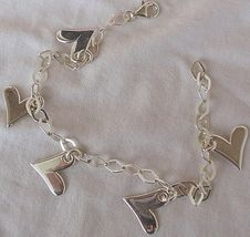 Silver hearts anklet 3 thumb200