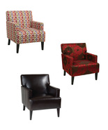 Ave Six Carrington Accent Armchair Wood & Fabric Living Room Bedrm Accen... - $239.99