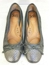 Sofft bronze glitter Trim Bow Flats Slip On Loafers Shoes Women's Size 8 M  - $29.68