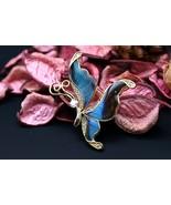 Navia Jewelry Butterfly Wings Doxocopa cherubina Alloy Brooch Pendant NB... - €43,58 EUR