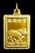 Sale Chinese Ox Zodiac Capricorn Gold Plated Charm Silver - $21.88