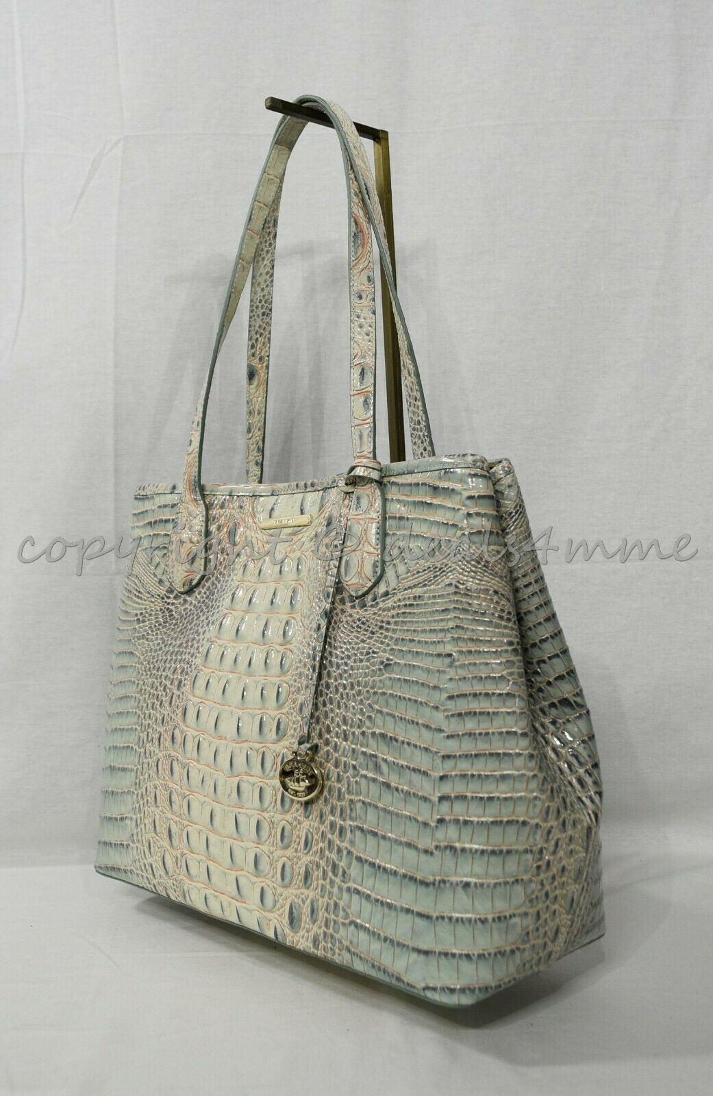 Primary image for Brahmin Medium Julian Embossed Leather Tote/Shoulder Bag in Aquarelle Melbourne