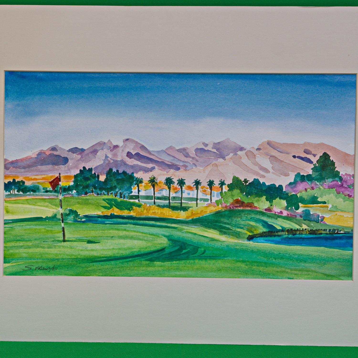 Large (20 X 14) Signed Original Watercolor Painting By Artist Susan Fridley
