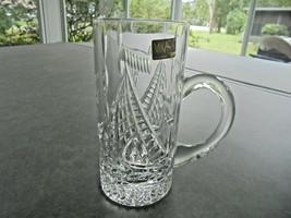 Large Mikasa Crystal Beer Mug Sailing Ships - $11.88